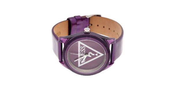 Dámske purpurové hodinky Guess