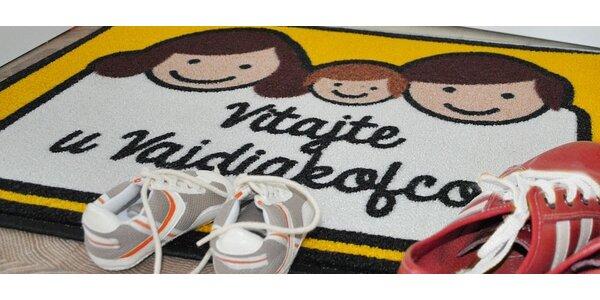 Veselá rodinná rohožka vyrobená na mieru