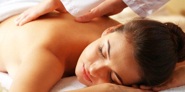 Aromaterapeutická masáž trupu, šije a hlavy