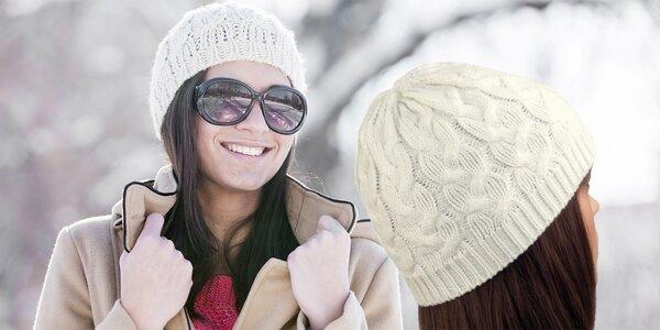 Štýlová teplá pletená čiapka