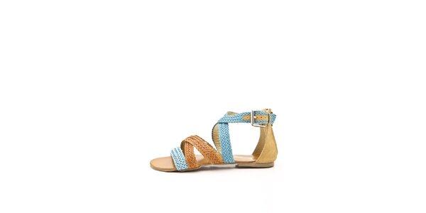 Dámske oranžovo-modré remienkové sandálky Boaime