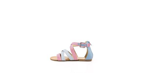 Dámske ružovo-modré remienkové sandálky Boaime