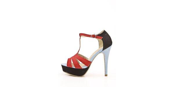 Dámske červeno-čierne sandálky Boaime