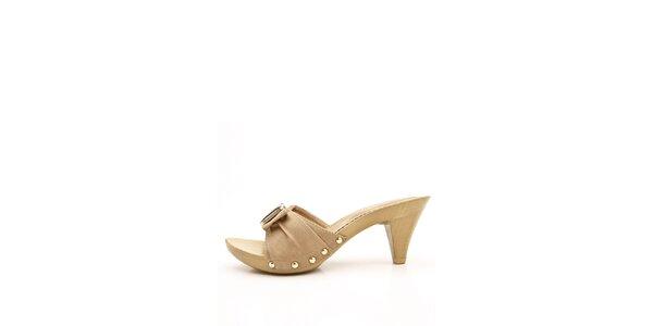 Dámske béžové papuče Boaime