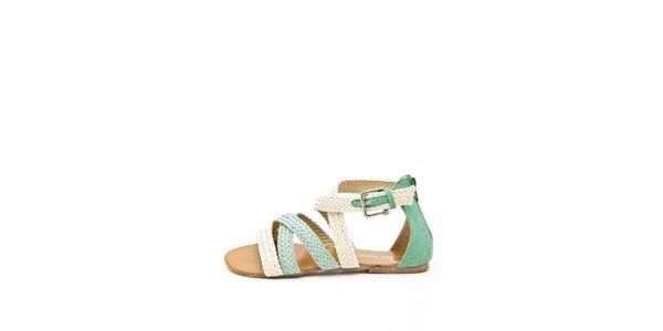 Dámske béžovo-zelené remienkové sandálky Boaime