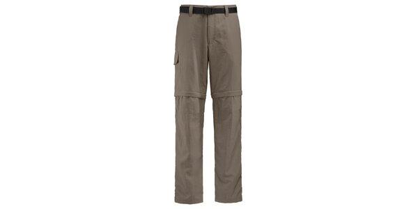 Pánske hnedobéžové športové nohavice Maier s odopínacími nohavicami