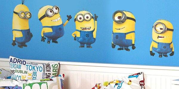 Veselé samolepky na stenu - žltí MIMONI!