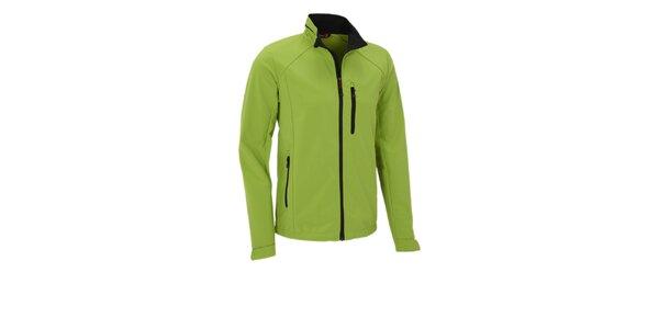 Pánska limetkovo zelená softshellová bunda Maier s membránou