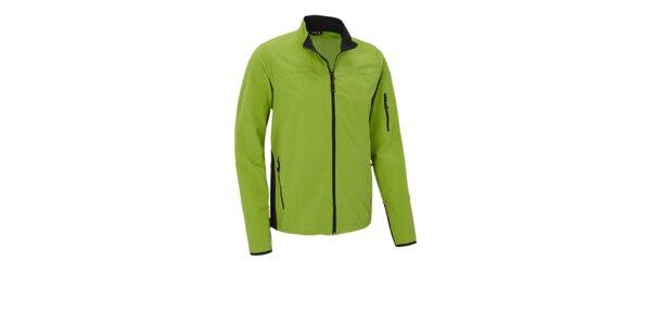 Pánska limetkovo zelená softshellová bunda Maier