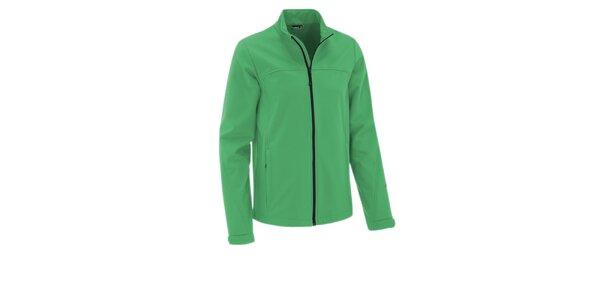Pánska mätovo zelená softshellová bunda Maier s membránou