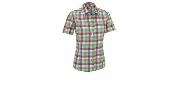 Dámska zeleno-modro-fialová kockovaná športová košeľa Maier