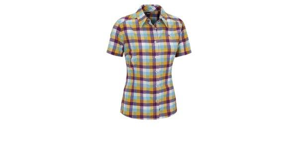 Dámska modro-žlto-fialová kockovaná športová košeľa Maier