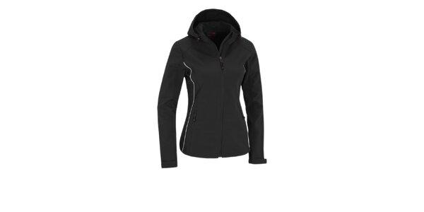 Dámska čierna softshellová bunda Maier s membránou a kapucňou