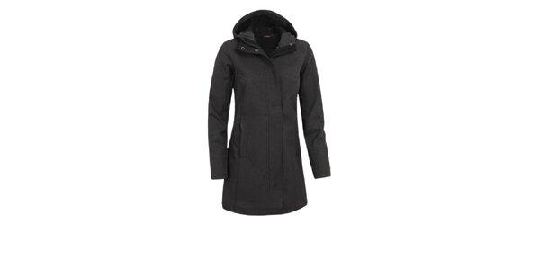 Dámsky čierny softshellový kabátik Maier s potlačou
