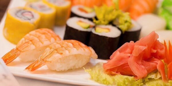 Výborné SUSHI v Sushi bare Sunshine v Auparku