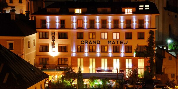 Nádherný Hotel Grand MATEJ**** v Banskej Štiavnici