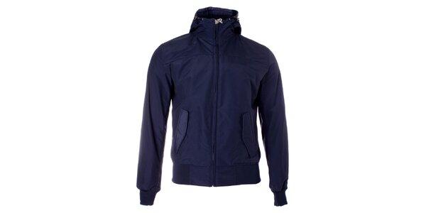 Pánska tmavo modrá jarná bunda Refrigue s kapucňou