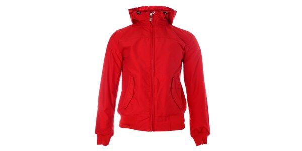 Pánska červená jarná bunda Refrigue s kapucňou