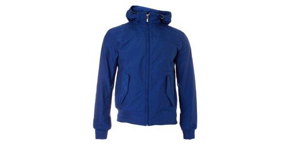 Pánska modrá jarná bunda Refrigue s kapucňou