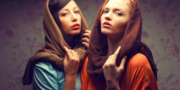 Luxusné kašmírové šály v trendových farbách