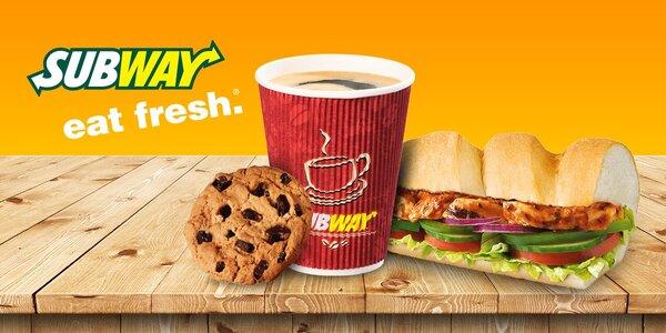 Kurací sendvič alebo káva s cookies v Subway