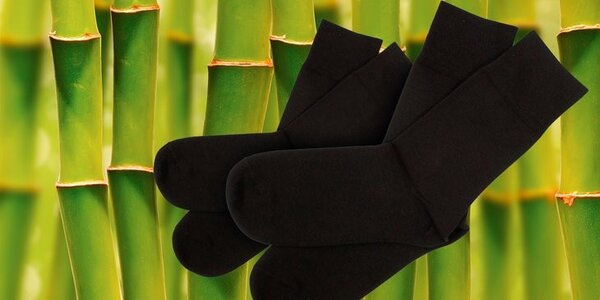 Pánske bambusové ponožky 5 párov