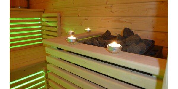 Privátny vstup do sauny pre dvoch alebo terapeutická masáž