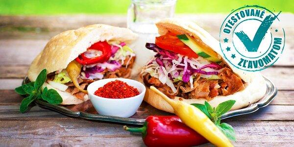 Kebab v žemli alebo v tortille + nápoj