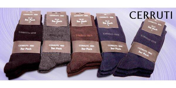9 párov ponožiek Cerruti 1881