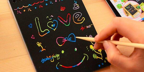 Vyškrabávací kreatívny zápisník