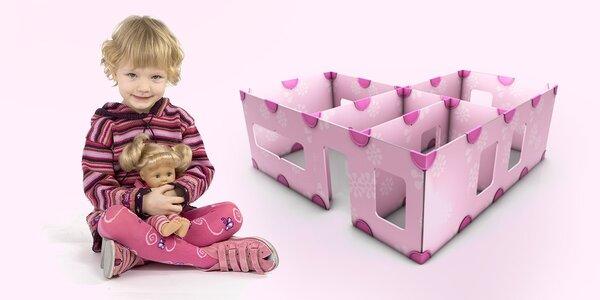 Stavebnica DollsWalls - domček pre bábiky, ktorý si dieťa zhotoví samo!
