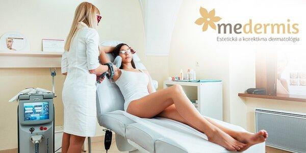 Laserová epilácia podpazušia, bikín, predkolenia, chrbta či hrudníka a brucha.…