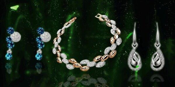 Kolekcia žiarivých náhrdelníkov a náušníc