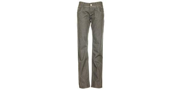 Dámske svetlo šedé džínsy s prešívanými vreckami Roxy