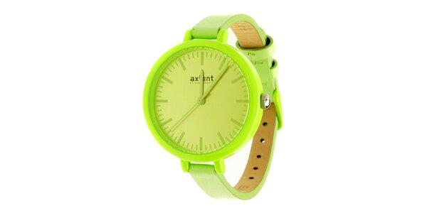 Dámske limetkovo zlené hodinky Axcent