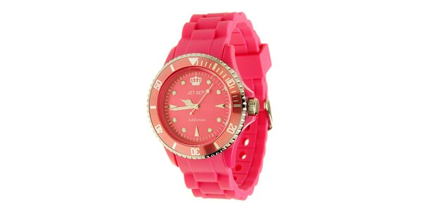 Dámske sýto ružové hodinky Jet Set