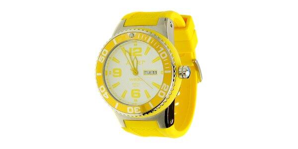 Pánske žlté hodinky Jet Set s pryžovým remienkom