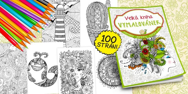 Relaxujte s farbičkami! Jarná Veľká kniha maľovaniek