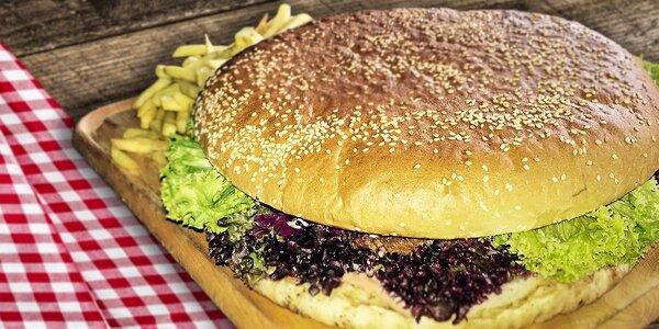 XXL hamburger pre hladných obrov - až 1,5 kila!