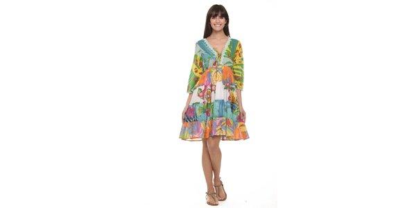 Dámske šaty s tropickým vzorom Kool