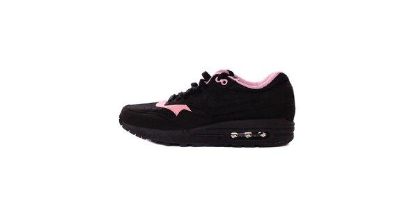 Dámske čierno-ružové tenisky Nike