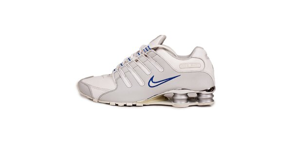 Pánske biele tenisky s modrými detailami Nike