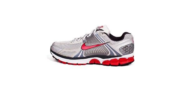 Pánske červeno-biele běžecké tenisky Nike