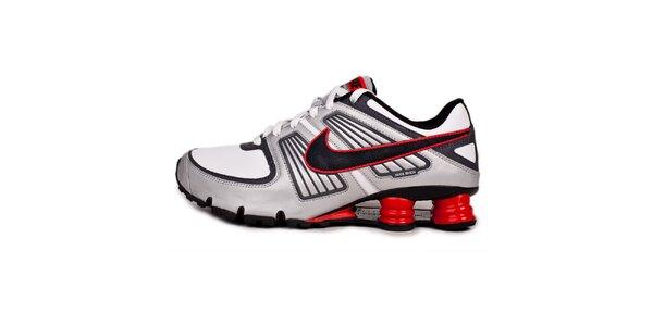 Pánske červeno-šedé tenisky Nike