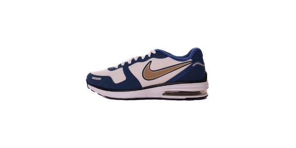 Pánske modro-biele tenisky s béžovým logom Nike