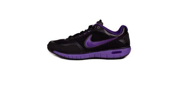 Dámske čierno-fialové tenisky Nike