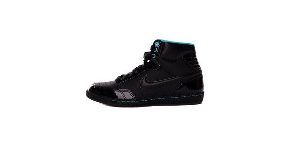 Dámske čierno-modré kotníkové tenisky Nike