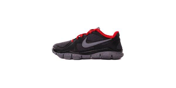 Pánske čierno-šedé běžecké tenisky Nike