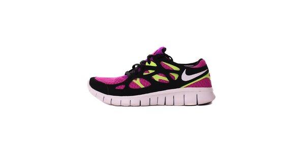 Dámske fuchsiovo-zelené běžecké tenisky Nike