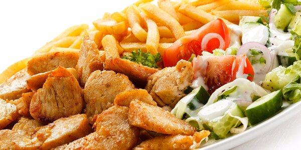 2 x kebab s hranolčekmi a zeleninovou oblohou - s dovozom!